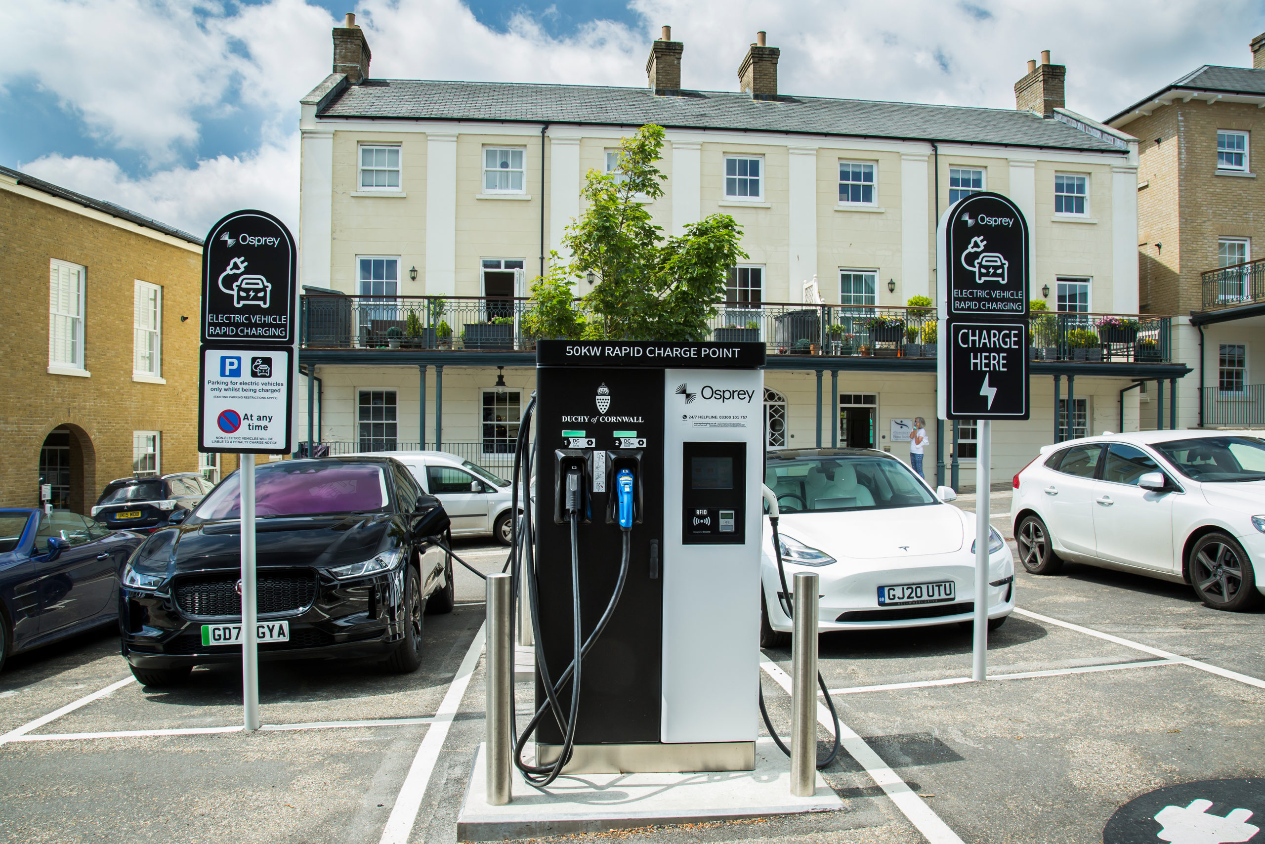 An Osprey chargepoint in Poundbury